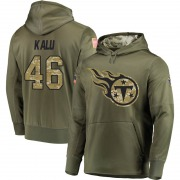 Youth Joshua Kalu Tennessee Titans Olive Salute to Service Pullover Hoodie
